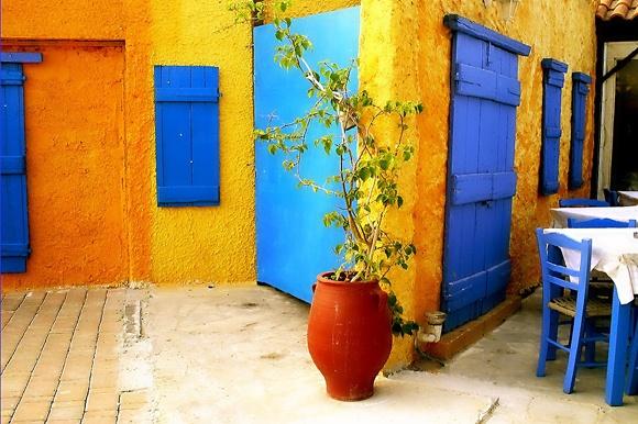 Restaurant on the beach of Platanias, Greek Cyprus