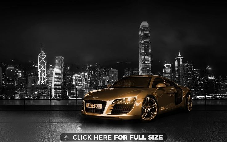 Audi R8 Gold 6163