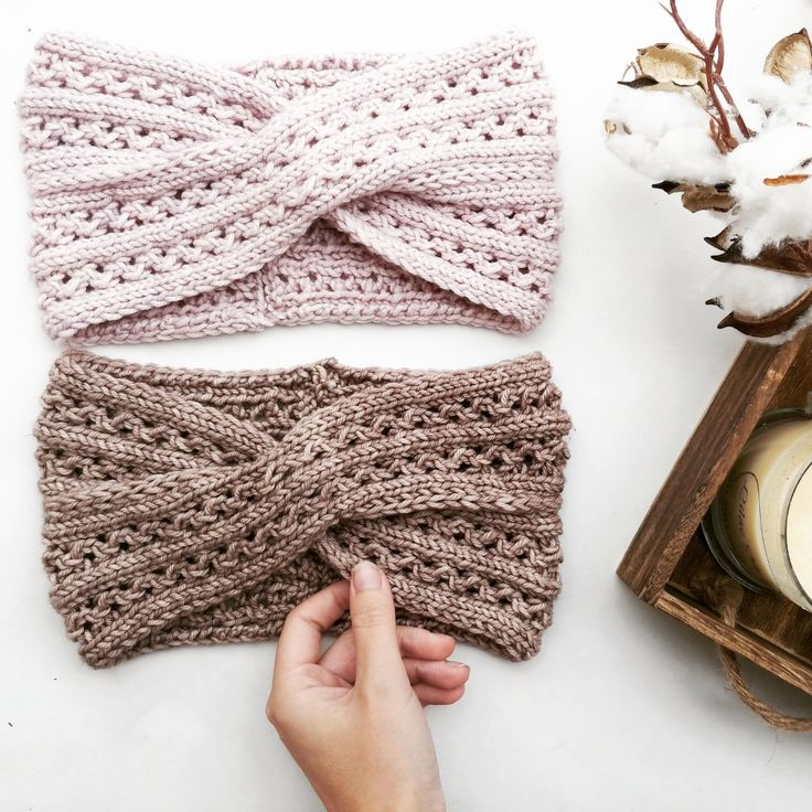 Knitted Earwarmer Pattern/ Twist Turban Style Headband ...