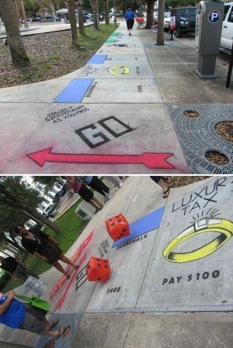 Monopoly Street. I wanna go! @Madyson Reynolds Reynolds Ziegler we should do this as a senior prank