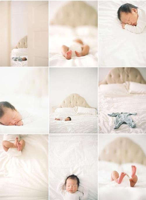 Preciosa idea para hacer Fotos de tu Bebé