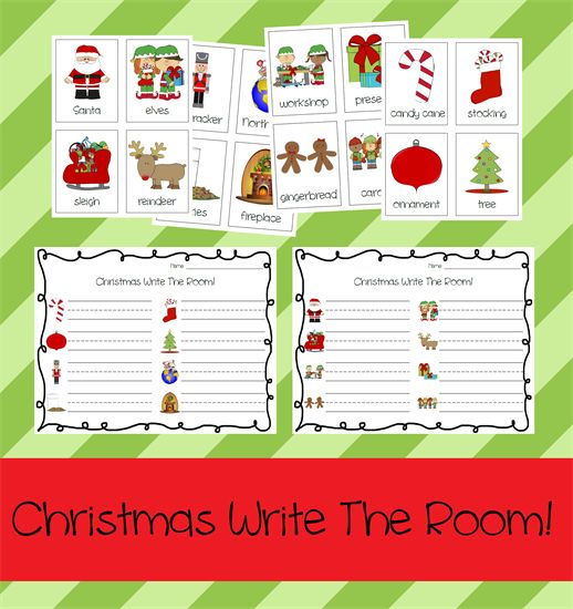 Christmas Write The Room Activity for Kids & FREE Printable Worksheets!