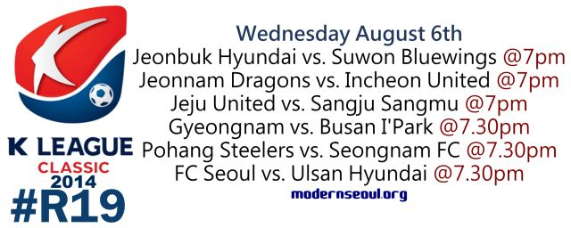K League Classic 2014 Round 19 August 6th