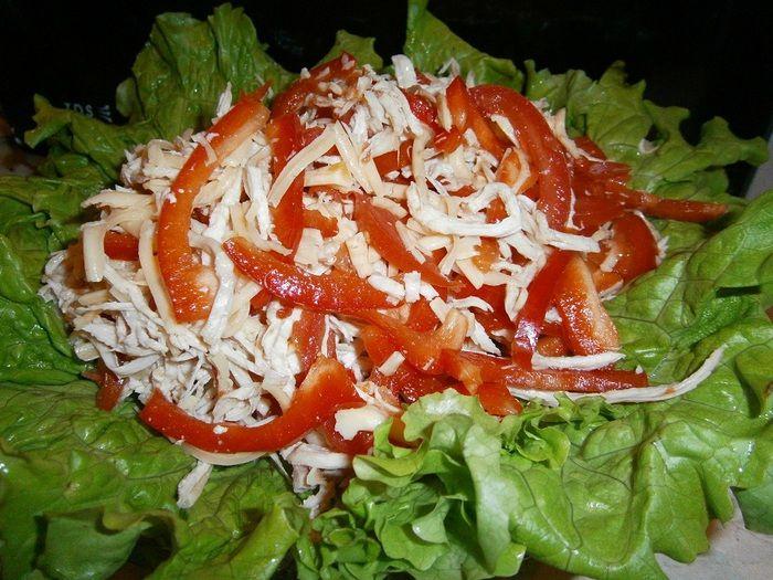 Салат изысканный креветками