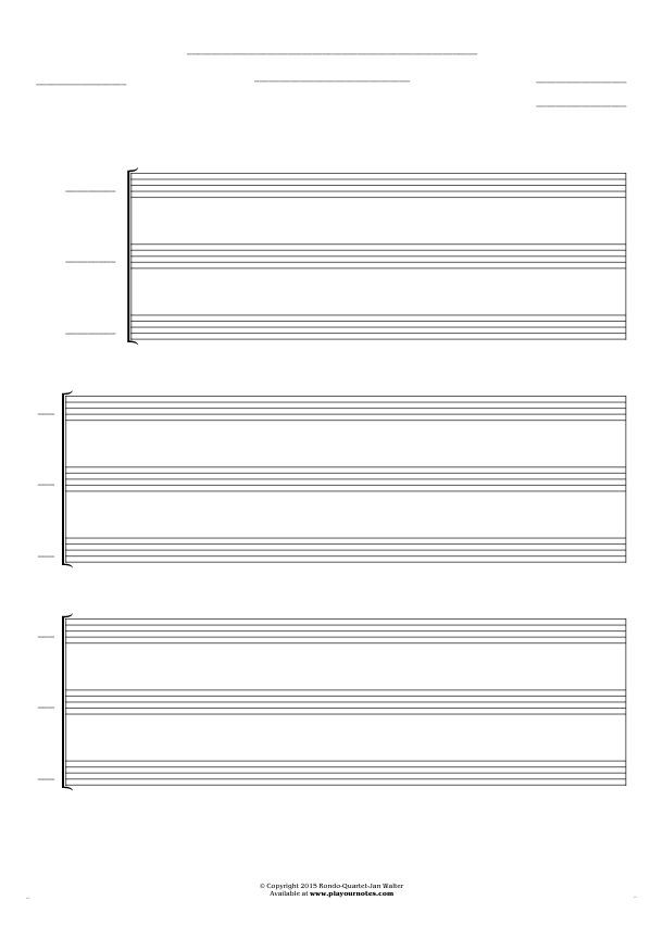 Free Blank Sheet Music sheet music by Jan Walter. Part: Score for 3 voices.