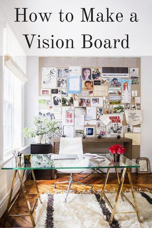 how to make a dream board vision board