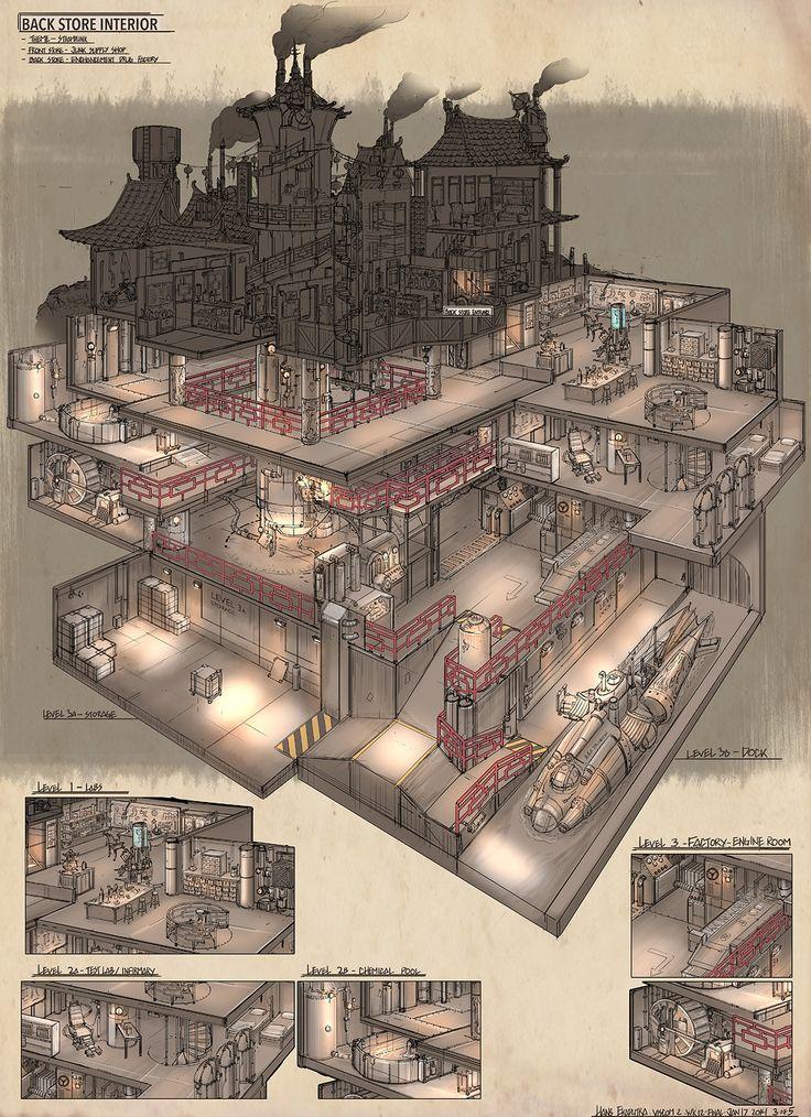 Fantastic underground lair map. I love the secret getaway sub.
