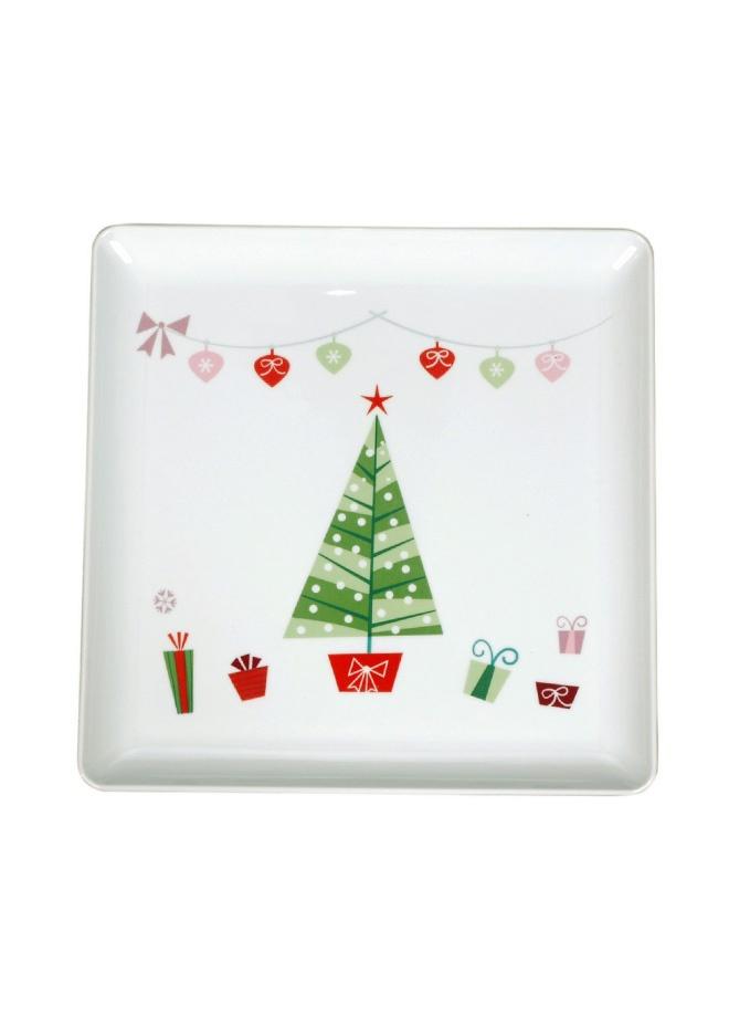 Tantitoni Yılbaşı desenli kare servis tabağı - 32 cm. Markafoni'de 44,00 TL yerine 28,99 TL! Satın almak için: http://www.markafoni.com/product/3173569/