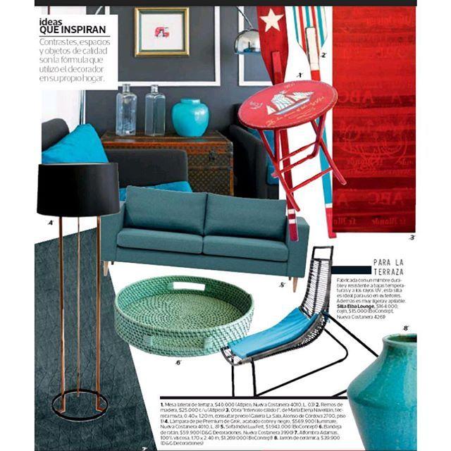 Sofá Indivi en tela LuxFelt, alfombra Adamas 100% viscosa hecha a mano y silla Elba Lounge de exterior en la última revista MASDECO! #latercera #revistamasdeco #decoracion #sofa #sillaterraza #alfombra #boconcept