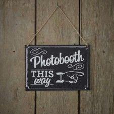 Photo Booth Schild - This way....