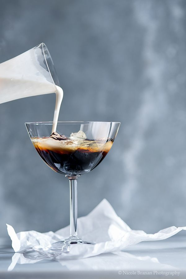 A delicious white Russian drink recipe with vodka, coffee liqueur and chai spice-infused cream.