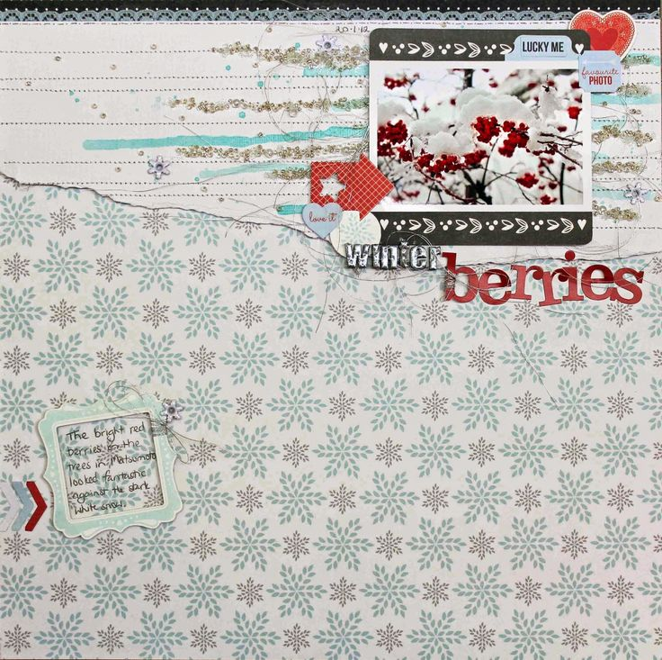 Scrap Around The World: December 2014 Challenge 20 A Frosty Winter Mood Board by Anna Komenda And a New Design Team Member!