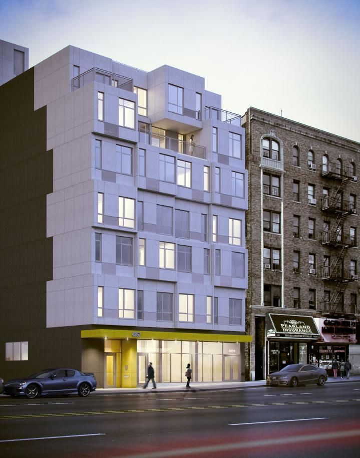 Broadway Stack | GLUCK+ Prefab Modular Apartment Building