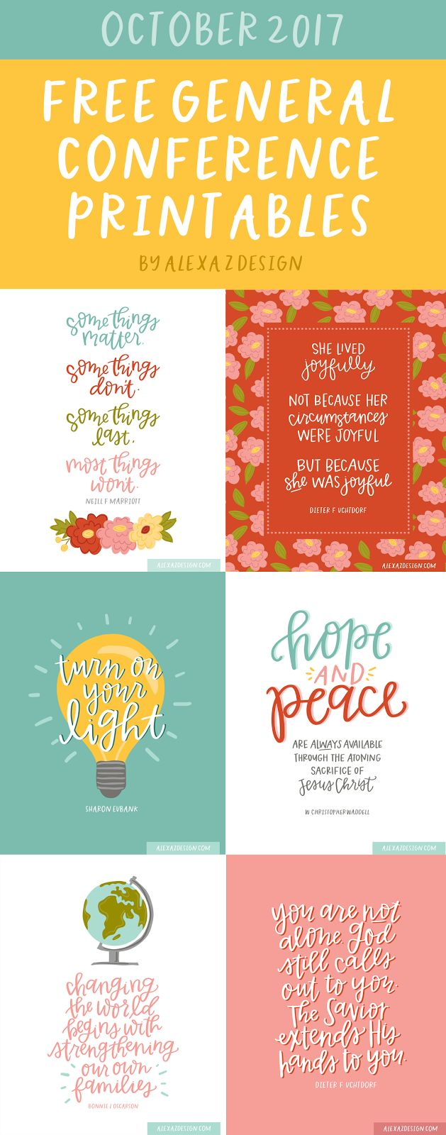 Free General Conference Printables - October 2018 - He and I