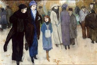 LEAVING THE THEATRE By Leo Gestel
