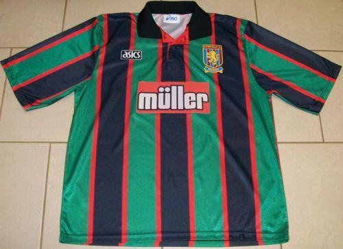 4895042607e Vintage-Aston-Villa-Football-Shirt-93-95-Asics-Green-Black-Adult-L-RARE