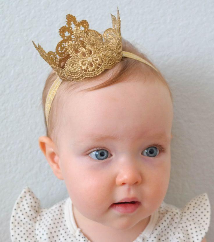 The Regal Lace Princess Crown Baby Crown by PrideandPrincesses
