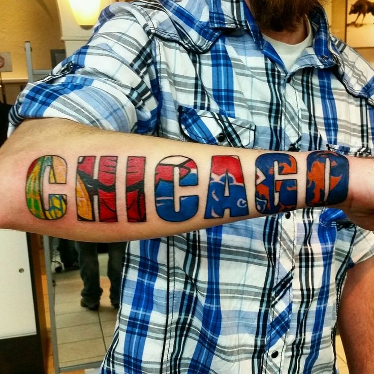 Chicago Tattoo | InkDoneRight There are numerous forms of Chicago Tattoos such as the great skyline, their awesome sports teams (Bulls, Blackhawks, Bears, White Sox and the Cubs), or...