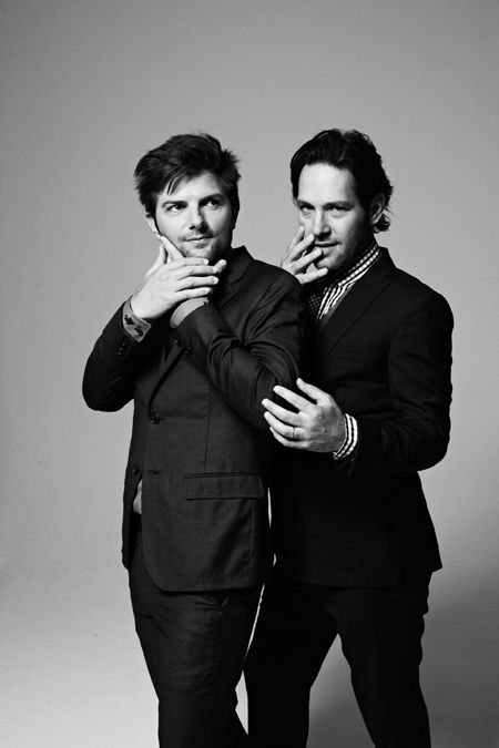 Paul Rudd & Adam Scott- love me some funny men!