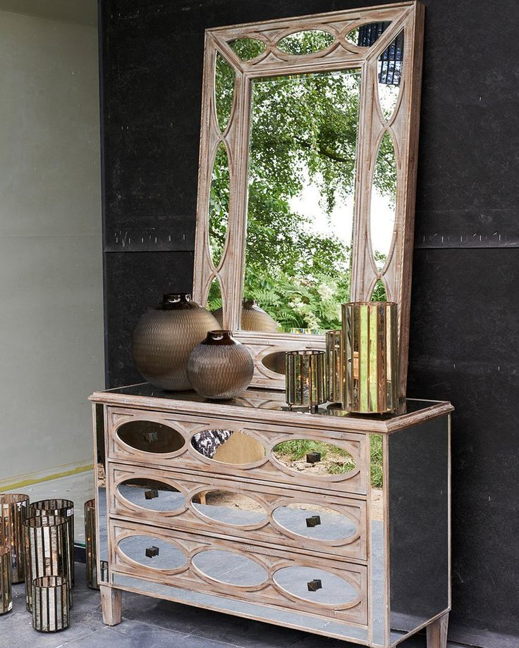 mirrordeco.com — Decorative Mirror with Mirrored Frame, H:120cm