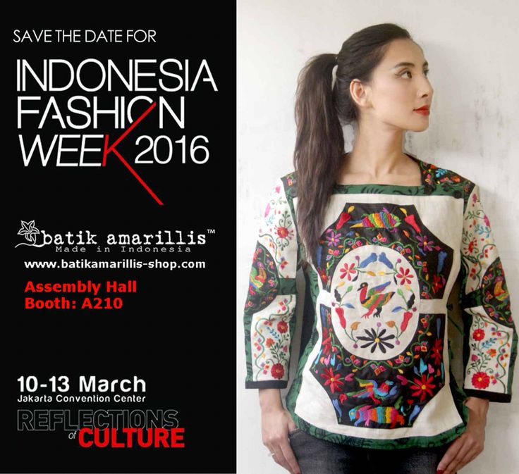 Come & Visit our Booth at Indonesia Fashion week 2016  March 10 - 13 Jakarta Convention Center Assembly  Hall Booth #A210 ..Love to see you there Lovelies!!