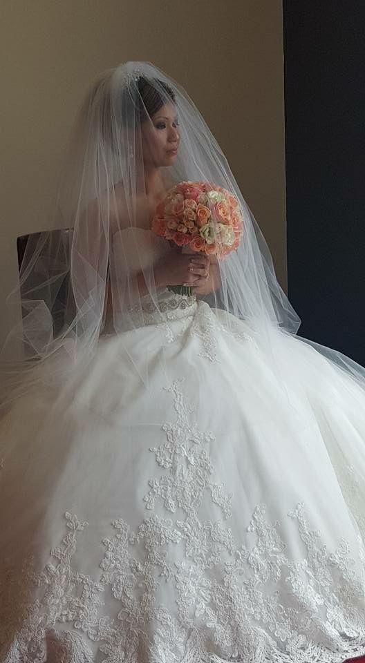 Janice's wedding dress from Jenny's Bridal