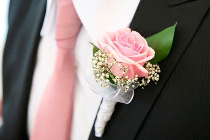 Blumen Anstecker für Bräutigam