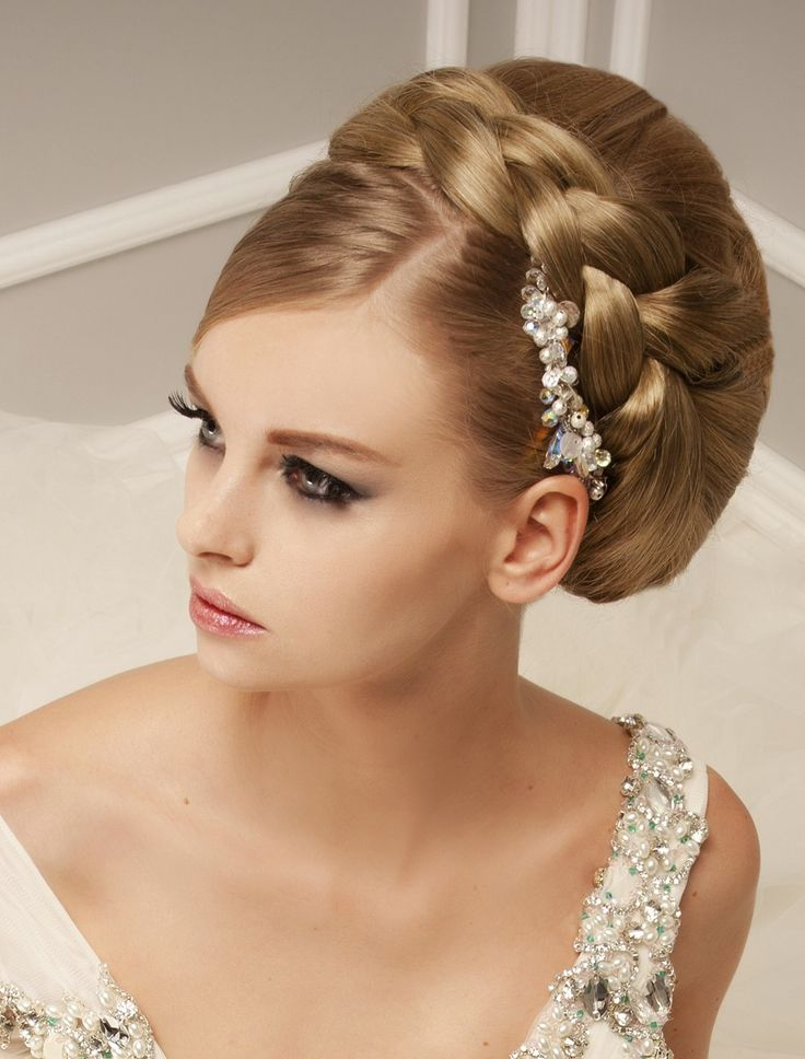 Hairstyles For Brides 40 chic wedding hair updos for elegant brides Find This Pin And More On Brides Hair Styles By Ellabella353