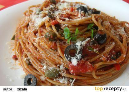 Špagety alla puttanesca recept - TopRecepty.cz