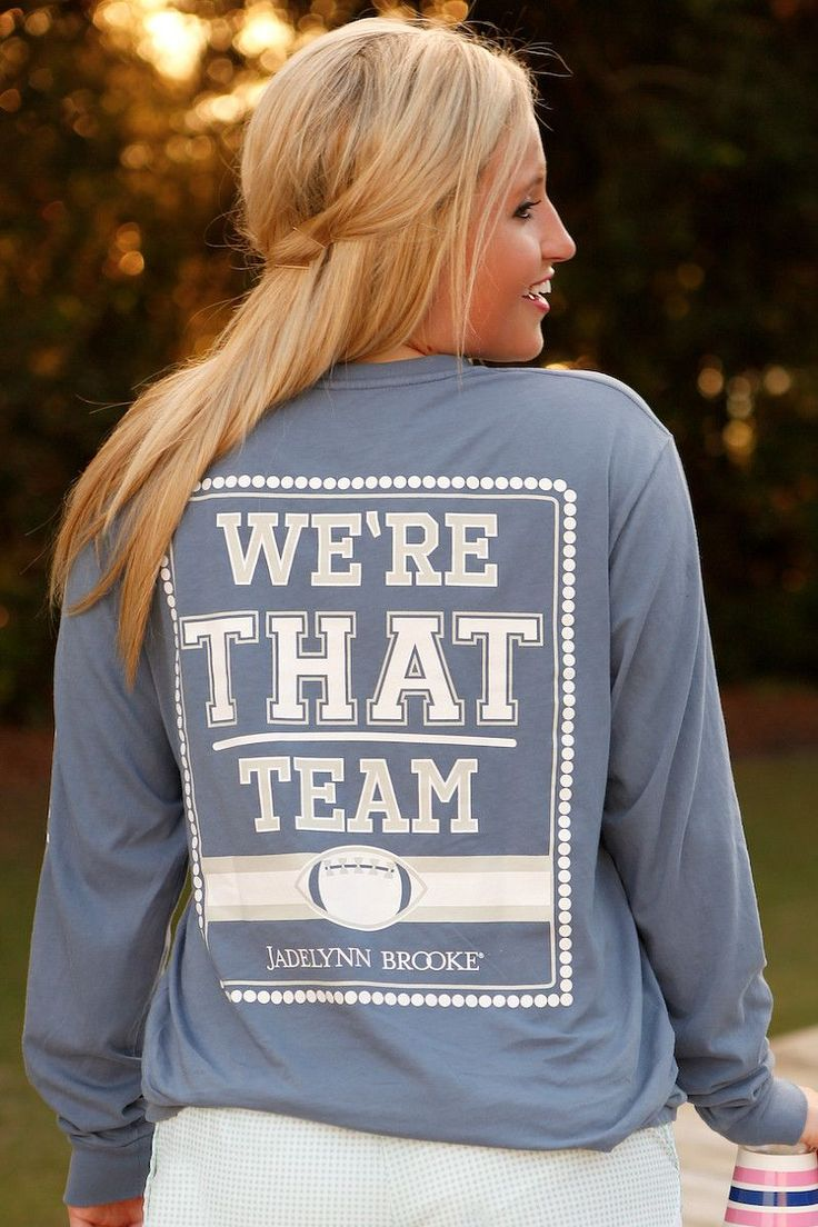 """NEW! """"We're That Team"""" -  from our brand new JLB Huddle Up Collection! Available online at WWW.JADELYNNBROOKE.COM"""