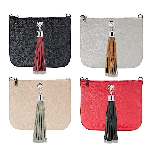 The perfect combination, mix and match your Ivy Clutch and Leather Tassel for a bright and bold look!