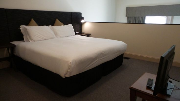Main Bedroom in a two bedroom Apartment at the Grand Hotel Melbourne, Australia