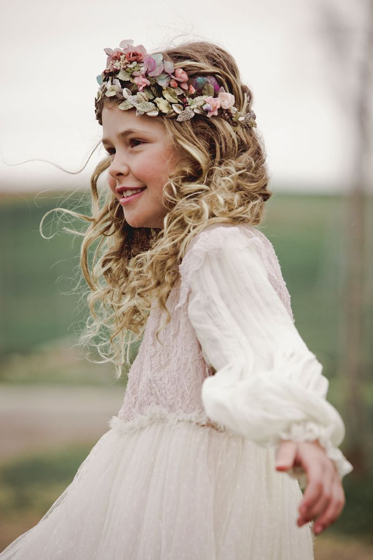 Flower girl - country wedding With crown