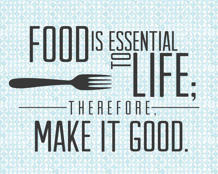 Food is essential