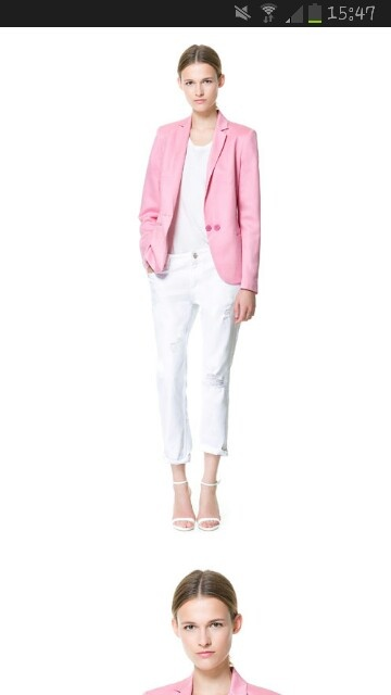 Giacca lino rosa