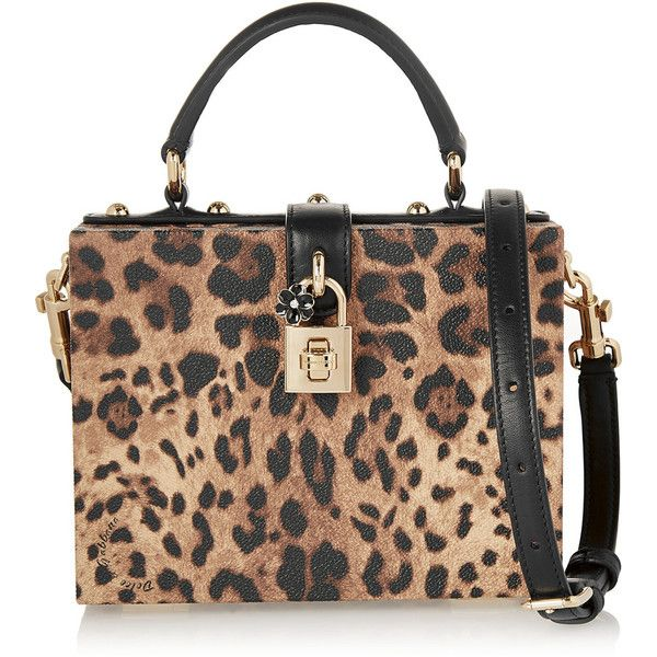Dolce & Gabbana Dolce small leopard-print textured-leather shoulder... (865 CAD) ❤ liked on Polyvore featuring bags, handbags, shoulder bags, animal print, leopard shoulder bag, retro handbags, leopard print handbag, leopard print purse and animal print shoulder bag
