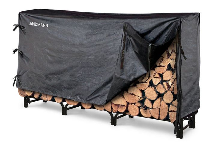 Firewood Rack With Cover 8 Feet Outdoor Heavy Duty Steel Log Holder Wood Storage #Landmann #Contemporary