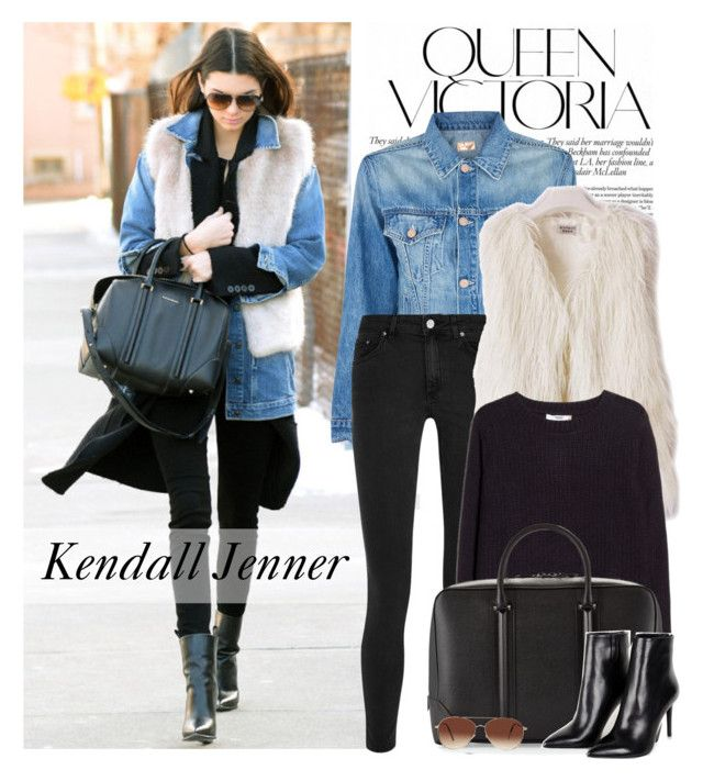 """Celebrity look: Kendall Jenner"" by monmondefou ❤ liked on Polyvore featuring Victoria Beckham, Mother, Acne Studios, MANGO, Givenchy, Barbara Bui, Eloquii, celebrity, celebstyle and kendalljenner"