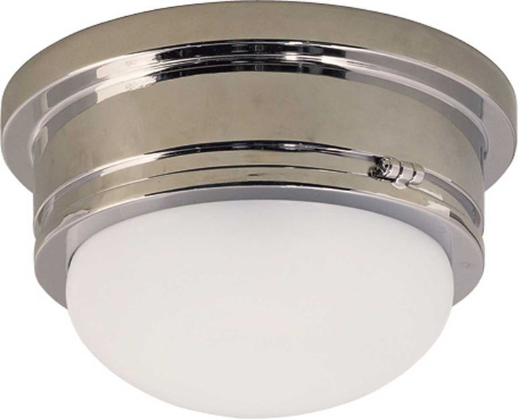 visual comfort e chapman marine 1 light flush mount in polished nickel