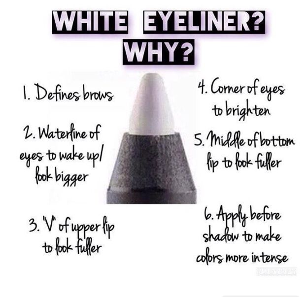 White Eyeliner has so Many different uses. Younique has over 11 Precision colors to choose from.