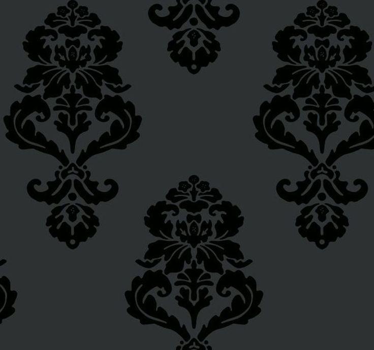 black---white-barock-ornamente-tapete-vliestapeten-325439-schwarz.jpg (800×748)