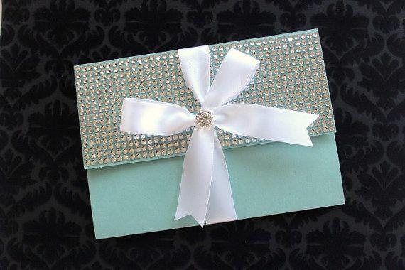 Tiffany Blue Wedding Invitations Kits: Tiffany Blue Bling Silver And White By AlexandriaLindo On