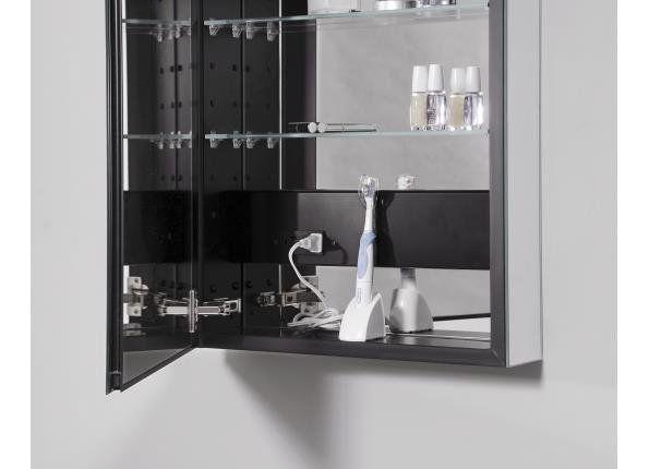 Pl Series Recessed Or Surface Mount Frameless Medicine Cabinet With 4 Adjustable Shelves In 2020 Adjustable Shelving Bathroom Furniture Modern Bathroom Design