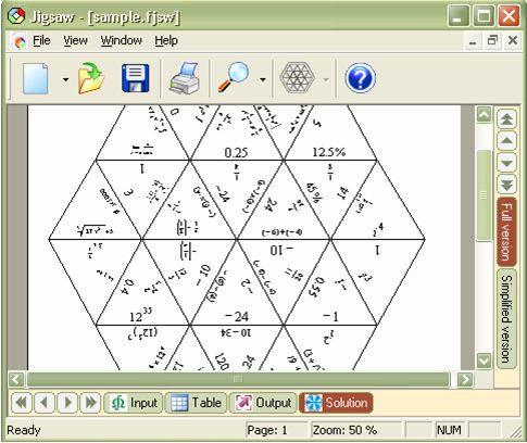 Free Formulator Tarsia. Software to create jigsaw puzzles.  Need Windows though.