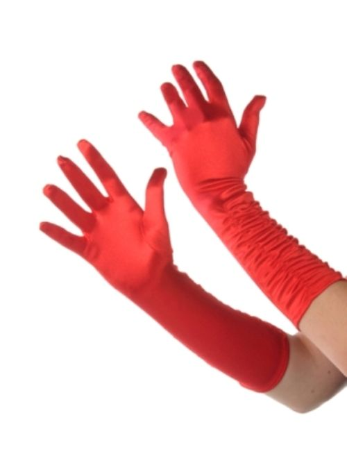 Red velvet gloves will give that extra seductive look.