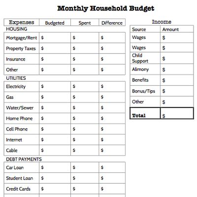http://credit.about.com/od/financialbasics/ss/Monthly-Budget-Worksheets_2.htm
