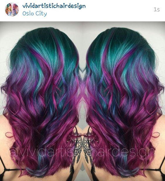 Υπέροχα χρώματα σε κυματιστά μαλλιά! Απλά εντυπωσιακά!!!