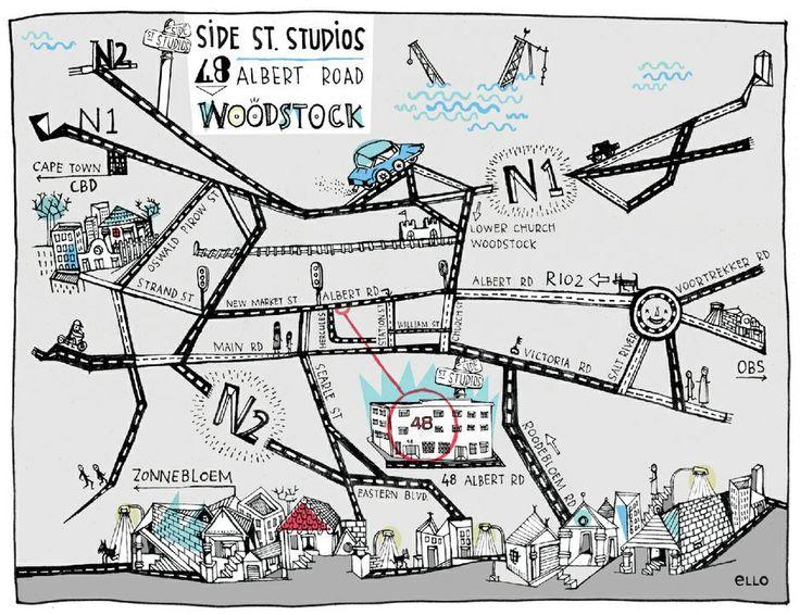 + >> DESIGN // ILLUSTRATION >> SIDE STREET STUDIOS >> MAP BY ELLO