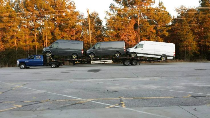 Low profile wedge trailer, hauls taller vehicles without ...