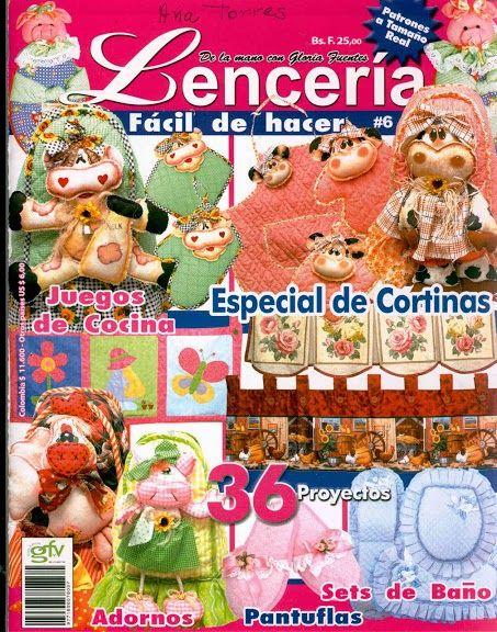 Revistas de manualidades Gratis: Revista Lencería para el hogar gratis